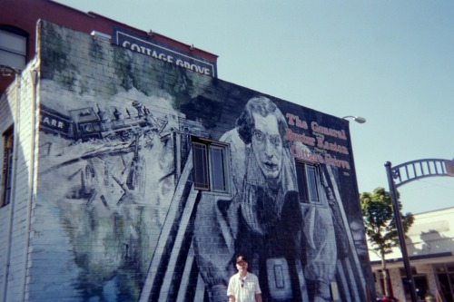 Me Standing in front of Keaton Mural