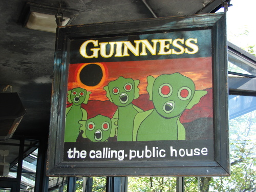 Where Little Green Men Go To Drink.....